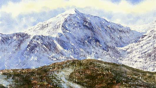One of the many example paintings done in demonstration during a class